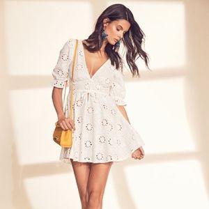For Love and Lemons Eyelet Dress for Revolve  sz L